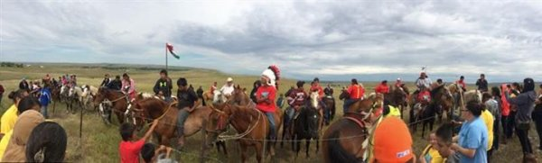 COMMEMORATION 2015 DE LA VICTOIRE NATIVE DE LITTLE BIG HORN DANS LE MONTANA