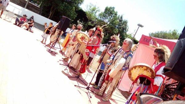 Animation amérindienne par le groupe MAKAH WACIPI au festival country en retz 2015 à ST VIAUD 4
