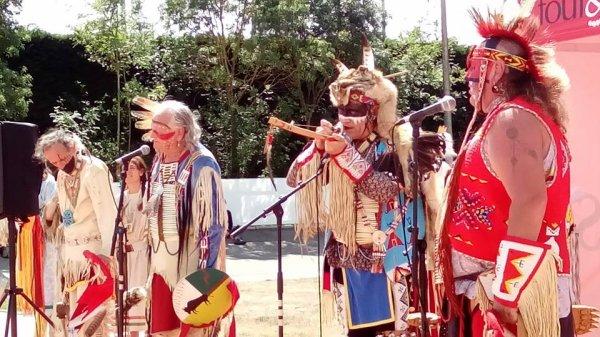 Animation amérindienne par le groupe MAKAH WACIPI au festival country en retz 2015 à ST VIAUD 5