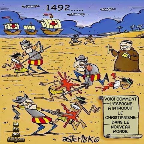 voici comment l'Espagne a introduit le catholicisme dans le nouveau monde