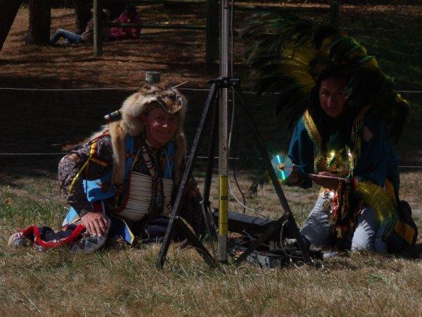 Animation amérindienne du groupe MAKAH WACIPI au festival de Grand'landes 5