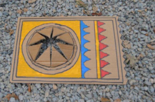 PROCHAIN PROJET DE REALISATION: NATIVE AMERICAN SUNSHADE (casquette pare-soleil indienne)