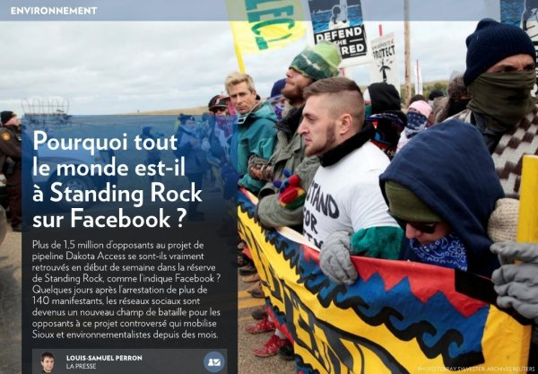 Pourquoi tout le monde est-il à Standing Rock sur Facebook ?