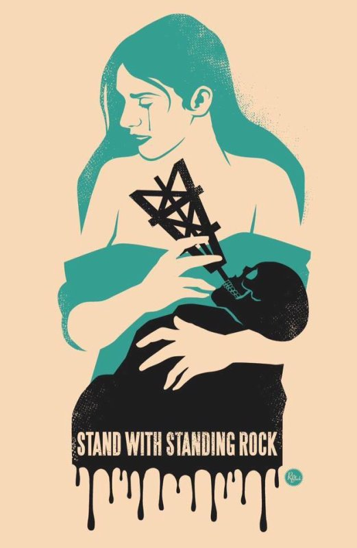 WE SUPPORT STANDING ROCK nous soutenons la cause native à Standing Rock