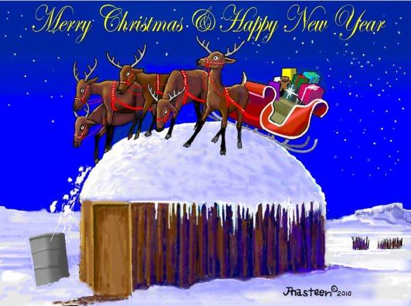 WANIKIYA THUNPI WOWIYUSKIN NA OMAKA TECA OIYOKIPI  bonne fête de Noël et bonne nouvelle année