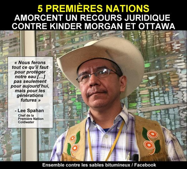 CINQ NATIONS NATIVES CANADIENNES COMBATTENT EN JUSTICE DES SOCIETES PETROLIERES ET L'ETAT