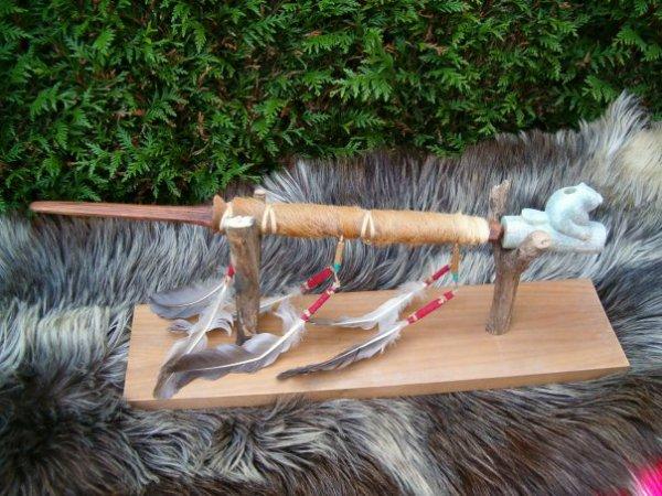 Copie en terre cuite d'un fourneau de pipe native