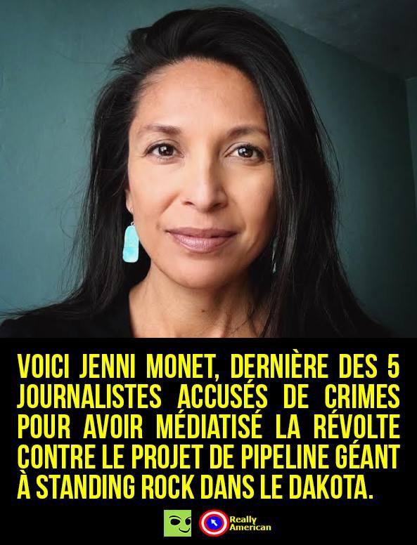 chasse aux journalistes couvrant la résistance contre le pipeline dakota access (surtout s'ils sont natifs)
