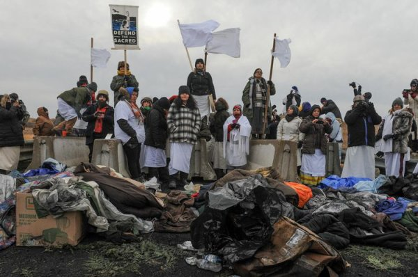 Standing Rock Contre le Dakota Access Pipeline,des tipis chez Trump