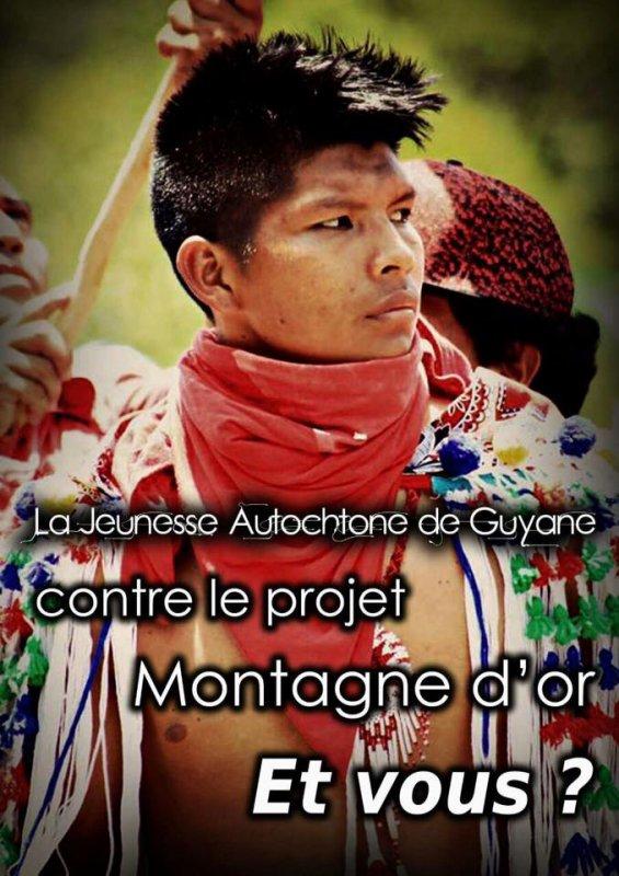 LA JEUNESSE AUTOCHTONE DE GUYANE CONTRE LE PROJET DE LA MONTAGNE D'OR
