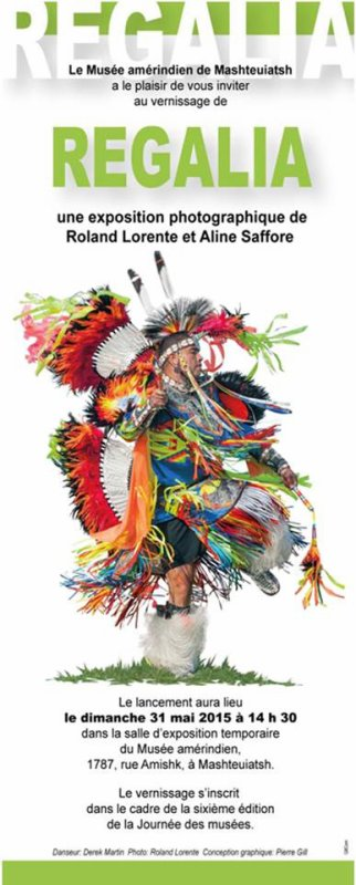 Exposition regalia, fierté autochtone