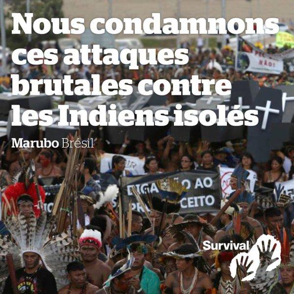 NOUS CONDAMNONS CES ATTAQUES BRUTACLES CONTRE LES INDIENS ISOLES
