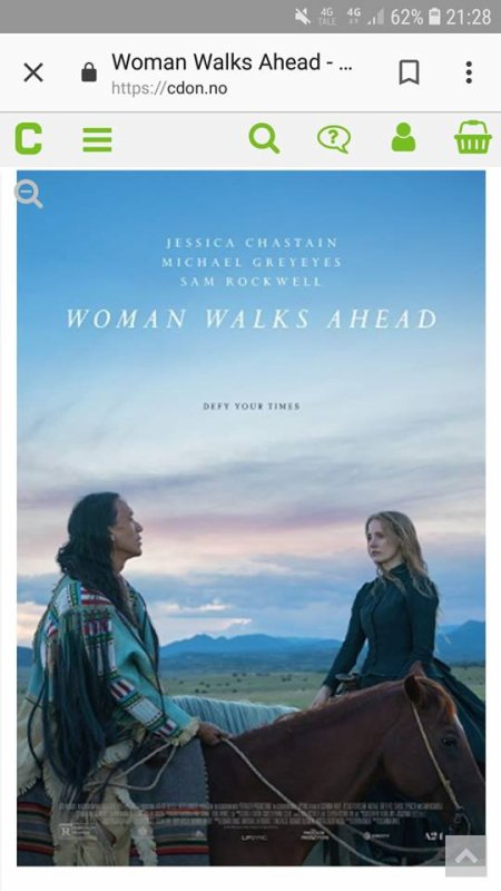 FILM :WOMAN WALKS AHEAD la femme qui marche devant