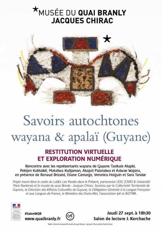 MUSEE QUAI BRANLY  savoirs autochtones wayana et apalaï (guyane)