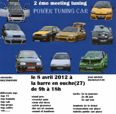2eme meeting  Power tuning car le 8 avril 2012