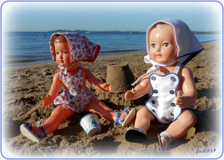 Françoise, Michel et ....  les joies du soleil.