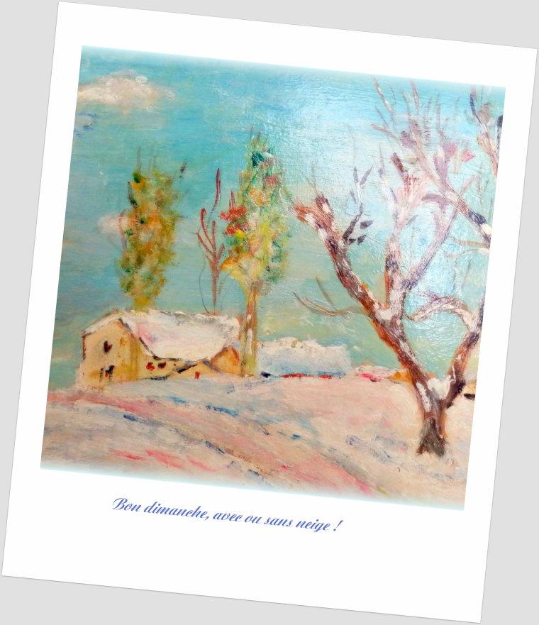 Francette en rêve ... de la neige !
