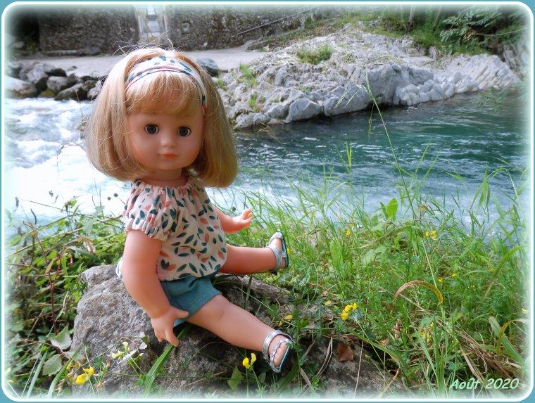 Souvenirs de vacances au bord du gave d'Aspe, c'était en août dernier !
