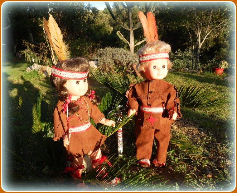 Marie-Françoise & Jean-Michel ont revêtu leurs costumes d'Indiens !