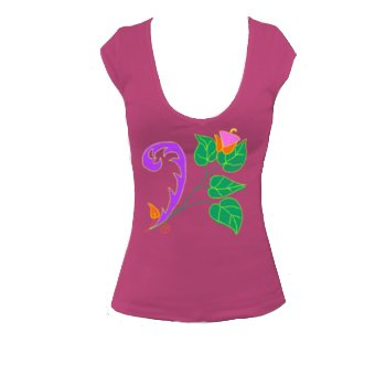 T-shirt wildflower 3 - Bella 8705- T-Shirt Col en V Pour Femmes- Dessine
