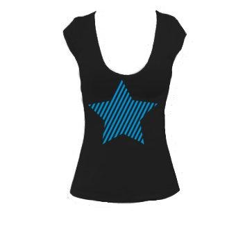 T-shirt star - Étoile - Bella 8705- T-Shirt Col en V Pour Femmes- Dessine