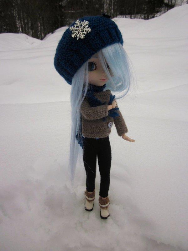 Séance photo de Miku In the winter snow....