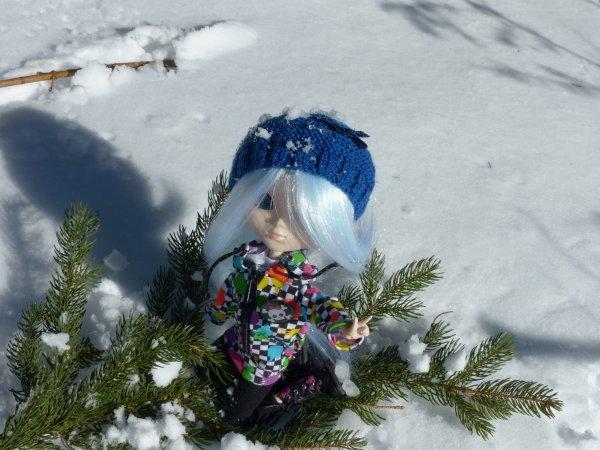 J'aime le son des craquements des pas dans la neige...