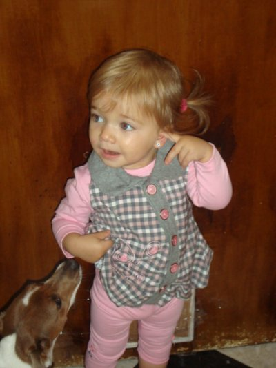 ma petite princesse avc son petit chien lolaaaaa