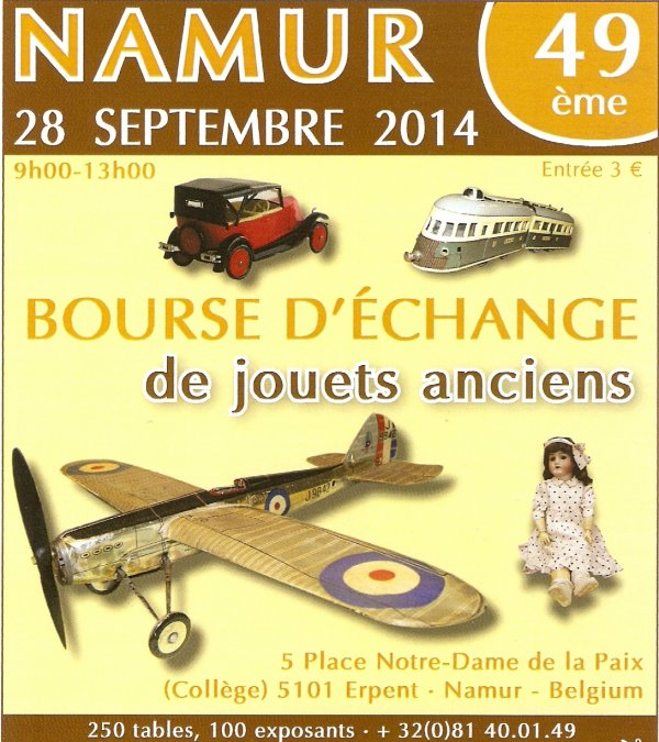 Namur Toy Show 28 septembre 2014
