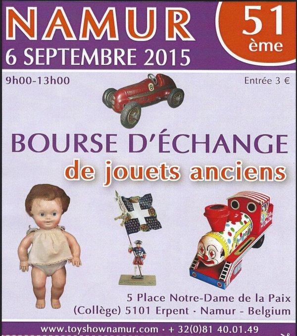 Namur Toy Show 6 septembre 2015