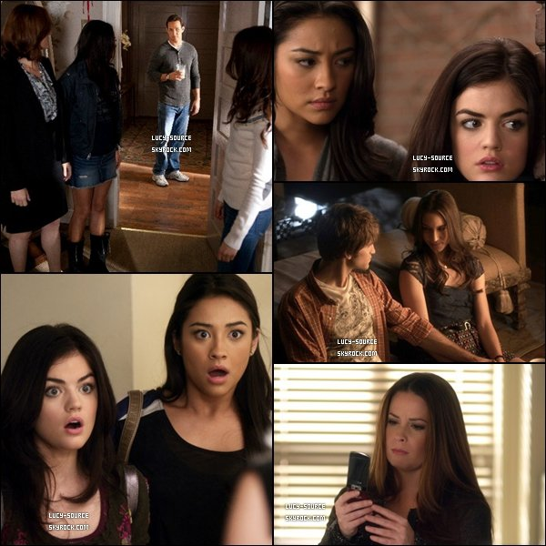 . Episode 20 de Pretty Little Liars, intitulé Someone to Watch Over Me.As tu regarder l'épisode ? *