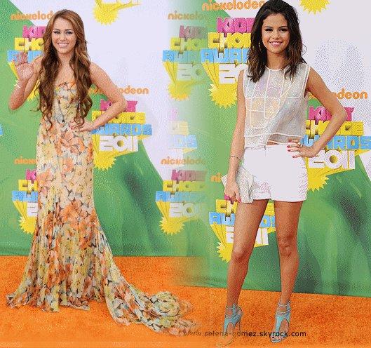 Que préférez vous Miley ou Selena au kids choice awards