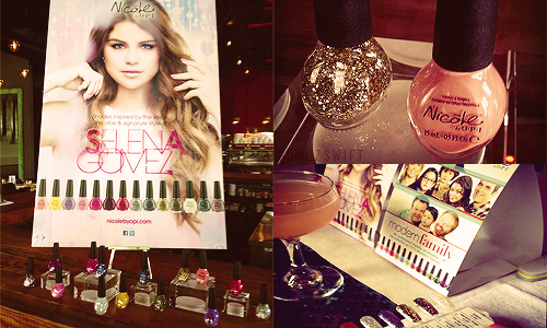 ♦ Date Unknown | Nouvelles images des pancartes publicitaires des vernis O.P.I. de Selena.