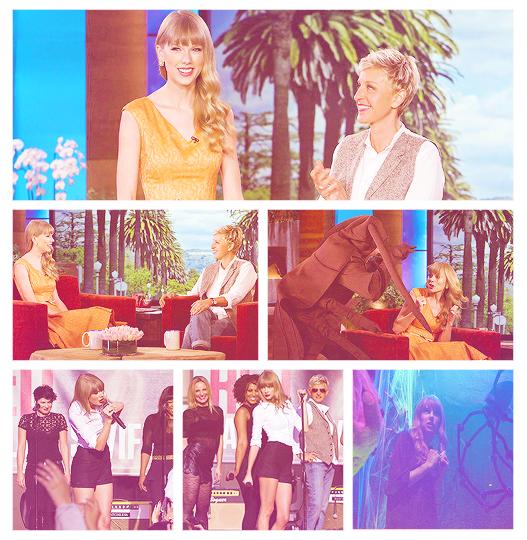 ▲ 25.10.2012 | Taylor a participé au The Ellen Show