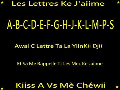 Les Lettres Ke J'aiime