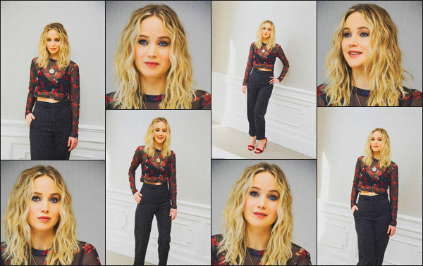 . 09.02.18 - Jennifer Lawrences'est rendue à la conférence de presse du film « Red Sparrow »'' ▬ ''à Los Angeles ! C'est donc pour la conférence de presse de son tout prochain film : Red Sparrow que nous retrouvons Jennifer, elle était sublime, un top. .