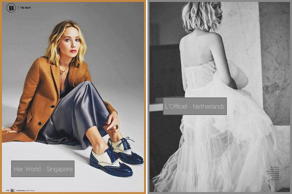 . Jennifer Lawrence apparaît dans deux nouveaux magazines • en sept 2018 ! .