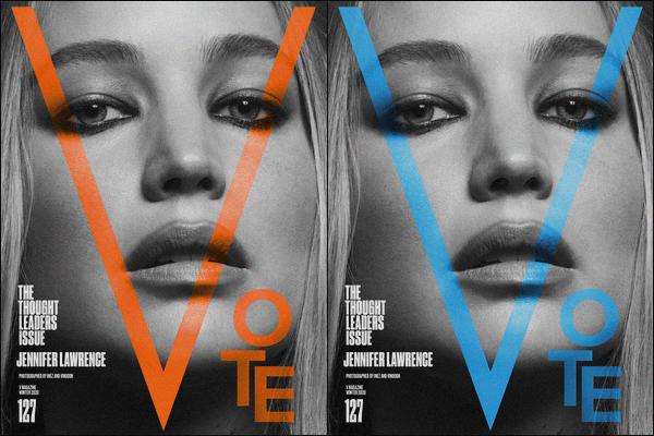 """. Jennifer Lawrence fait la couverture du célèbre""""—""""« V Magazine »' pour l'édition The Thought Leaders ! ."""