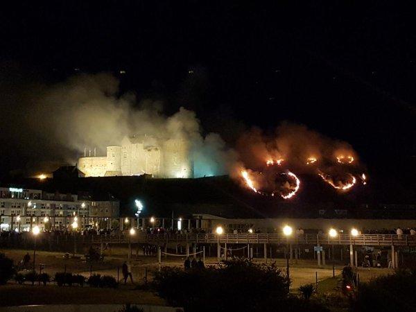 Le feu d'artifice provoque un incendie à Dieppe
