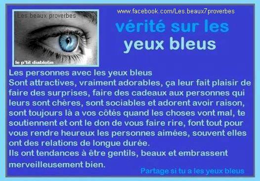 partage si tu a les yeux bleus