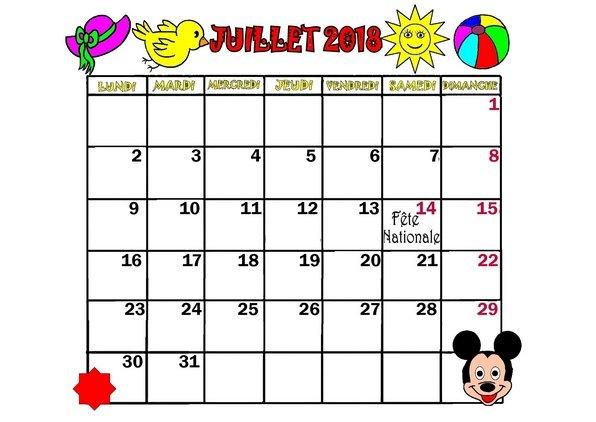 mois de juillet