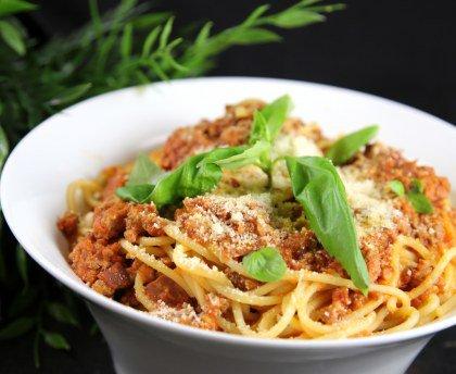 Spaghettis bolognaise (proche de la vraie)