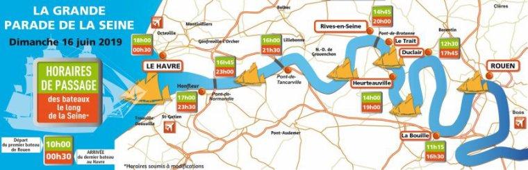 EN DIRECT. Suivez la parade des bateaux de l'Armada de Rouen le long de la Seine