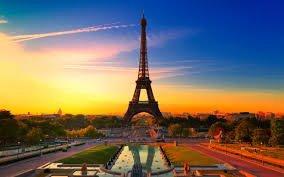 coucher de soleil a Paris ;-)