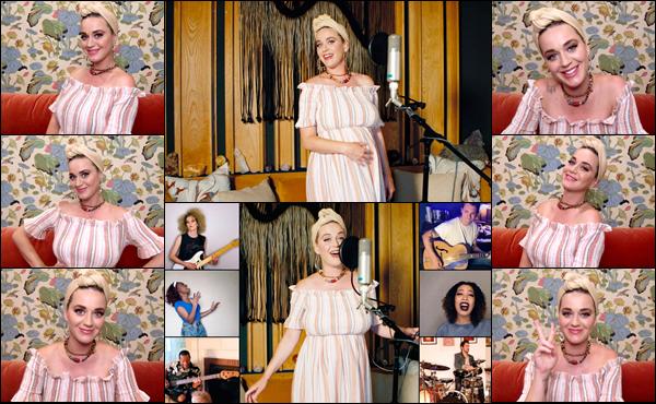● 09/05/2020 : Katy chez elle était en concert pour le « Shein Together Virtual Festival » contre le COVID-19 La future maman Katy Perry a partagé également une échographie de sa fille ou on aperçoit son petit doigt trop mignon
