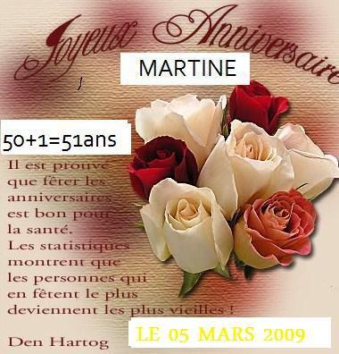 Aujourd Hui Le 05 Mars 2009 Joyeux Anniversaire Martine