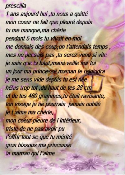 1 Ans Aujourd Hui Tu Me Manque Ma Princesse Parti Trop Tot