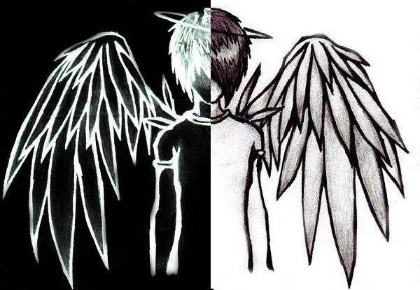 J'suis mi-ange mi-démon.