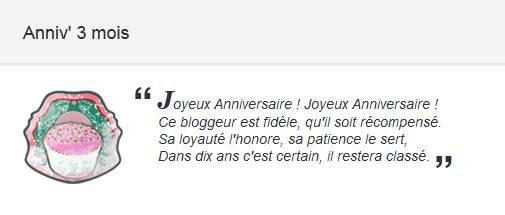 C'est le 3 mois de mon blog! : Joyeux aniversaire à lui! xD