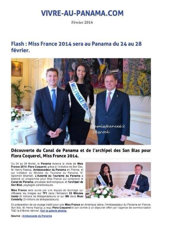 Flora  a la foire expo d Alançon dédicaces le 23-02-2014 / Flora dans la magazine  DNA du 23 fevrier /  Flora  Ambassade du Panama